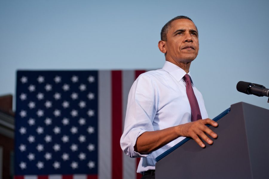 Barack+Obama+giving+a+campaign+speech+on+Aug.+2%2C+2012+in+Virginia.