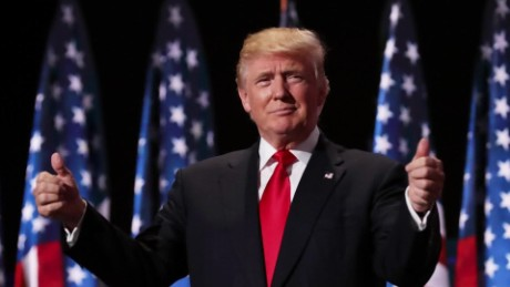 President Trump at the Republican Convention  — July 2016