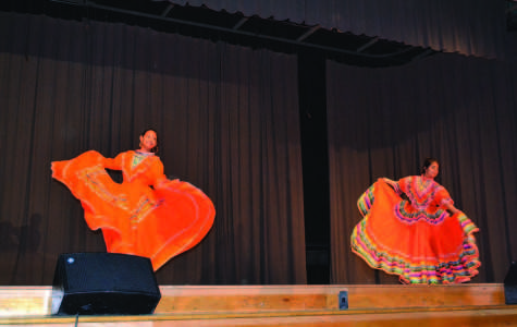 Seniors Tania Munoz and Lucero Soto entered the Talent Show to promote their heritage. The two exhibited a folkloric dance of Mexico