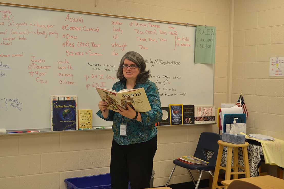 Mrs. McFalls has taught English III Honors and AP Seminar at White Station. After 22 years of teaching, she will be greatly missed.