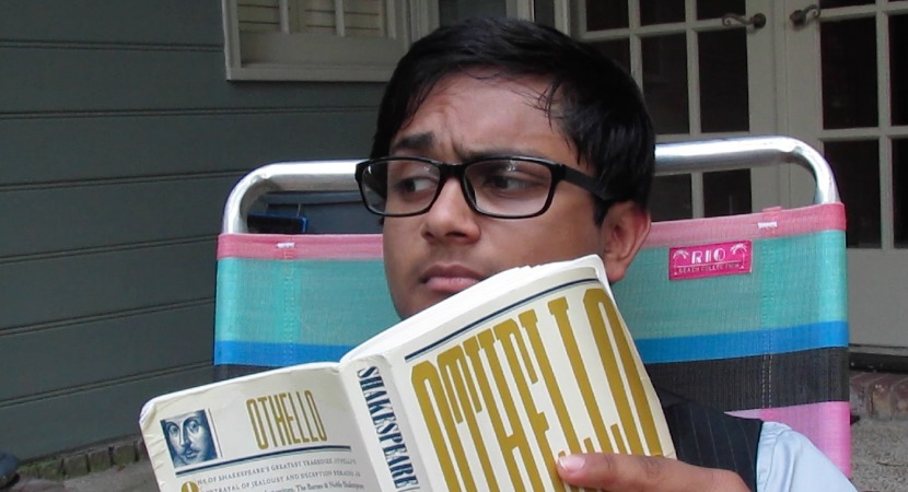 Capricorn, played by Meead Rahman (11), is always reading.