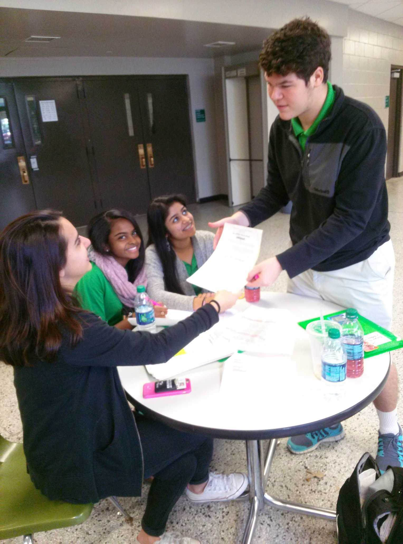 E-Board in action at the Blood Drive.