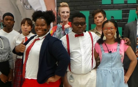 Cast B pose in character for closing night.
