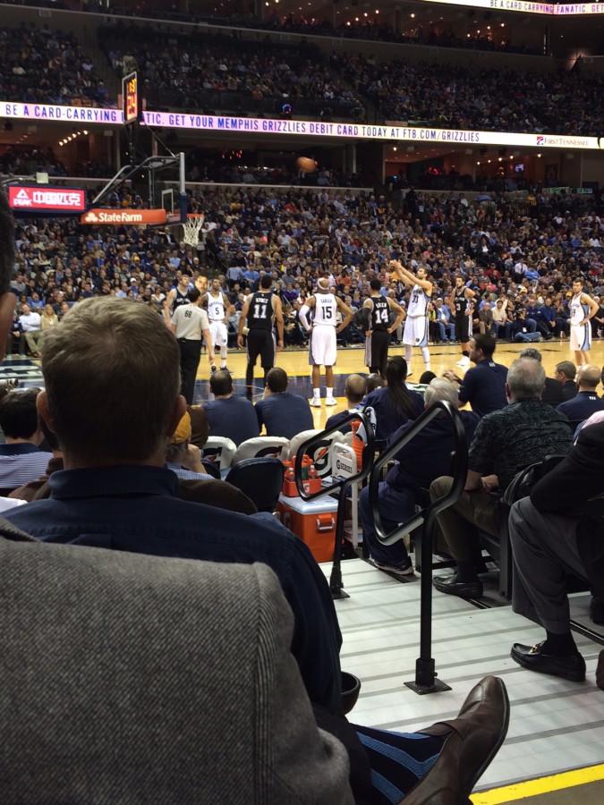 Once the Memphis Grizzlies, now the Goon Squad, playing the Los Angeles Spurs.