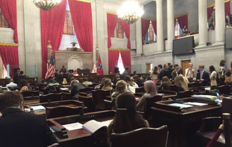 TN students debating issues in the Tennessee House of Representative in Nashville.