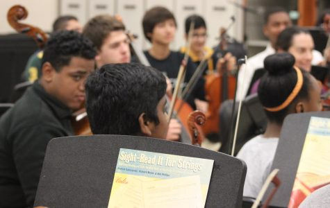Members of Orchestra preparing to perform