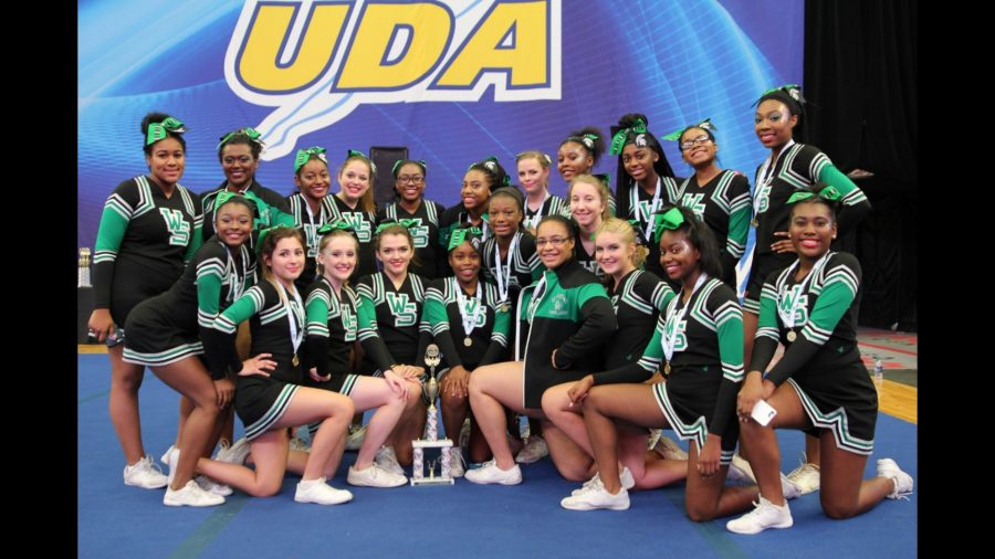 WSHS cheer team at the UCA competition in Southaven