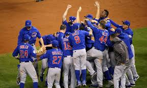 The Chicago Cubs celebrate after winning the 2016 World Series Title.