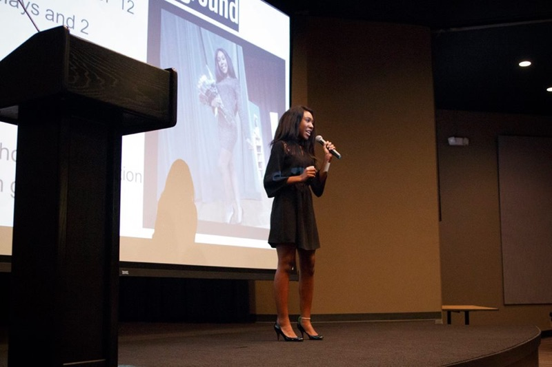 Talia Owens (12) pitches her program idea to partners and investors affiliated with LITE Memphis.