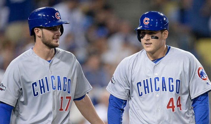 Kris+Bryant+%2817%29+and+Anthony+Rizzo+%2844%29%2C+the+present+and+future+centerpieces+of+the+Chicago+Cubs%0A