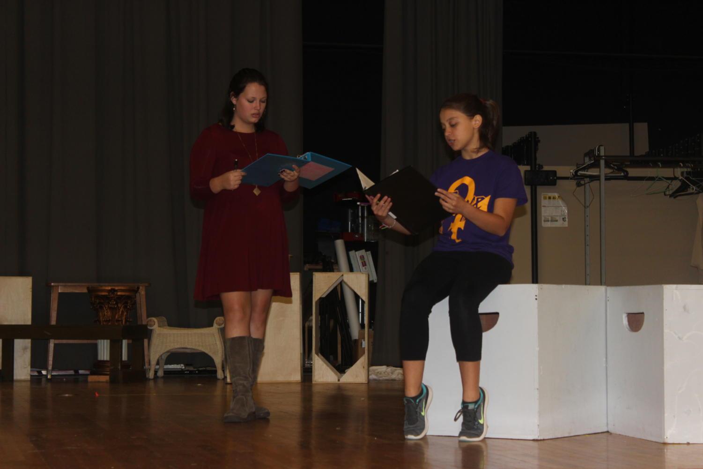 Chloe Zelinka (11) and Abbye Friedman (9) engage in tense argument.