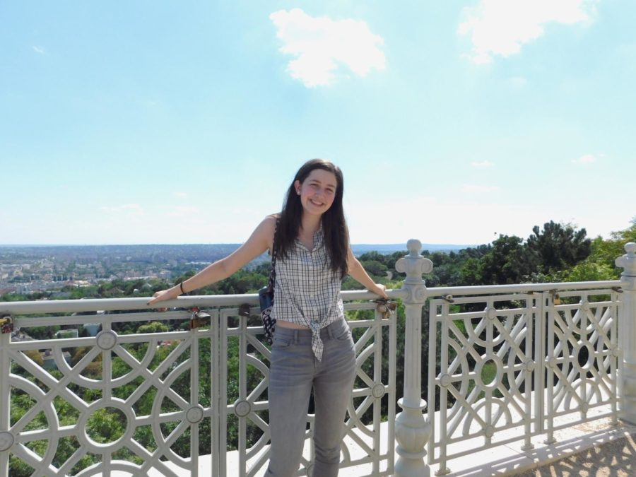 Kathryn Haynes (12) enjoys the view in Budapest.