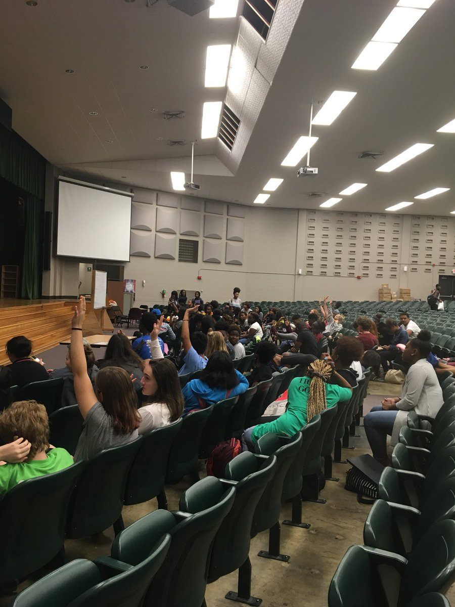 Today, WSHS E-Board led a student town hall meeting to discuss the homecoming dress-up days for next week. The days include throwback day, twin day, meme/vine day, stereotype day, and green and grey day.