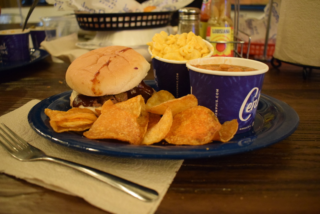 A barbecue sandwich, mac and cheese, home-cooked chips, and baked beans at Central. Central was the most popular choice of White Station students, getting 45. 2 percent of the vote out of 215 students.