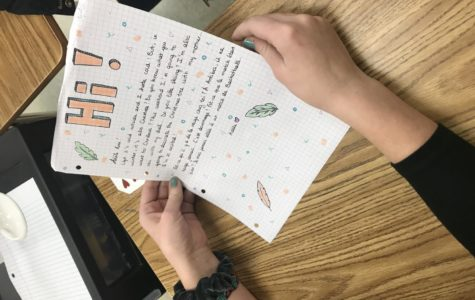 French students write letters to global pen pals