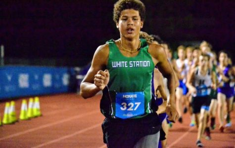 At the HOKA Postal Nationals earlier this year, Jamieson Nelvis (11) placed first in his heat of the 3200 meter race, which includes competitors from all over the Memphis area.