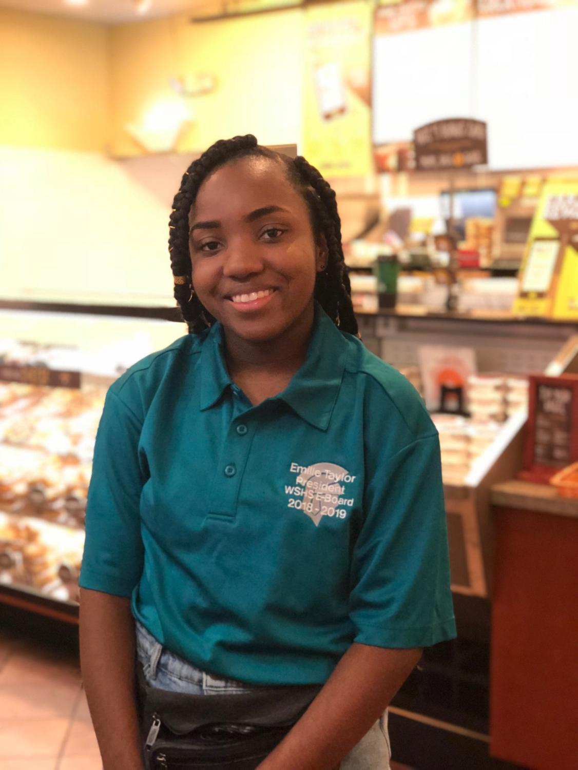 Emille Taylor (12) served as Co-president of E-Board and Executive Officer of the National Honor Society in the latter half of her time at WSHS.