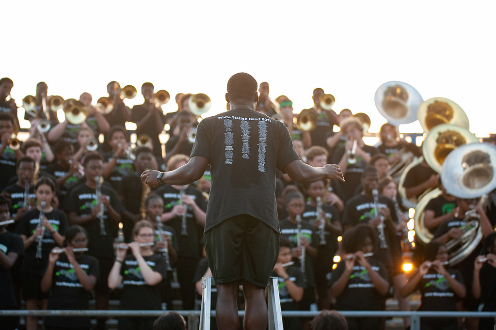 It has been several years since the White Station Marching Band has participated in a competition. This year, the band dipped a toe into the world of competitive marching through the Briarcrest Christian School Marching Band Invitational.