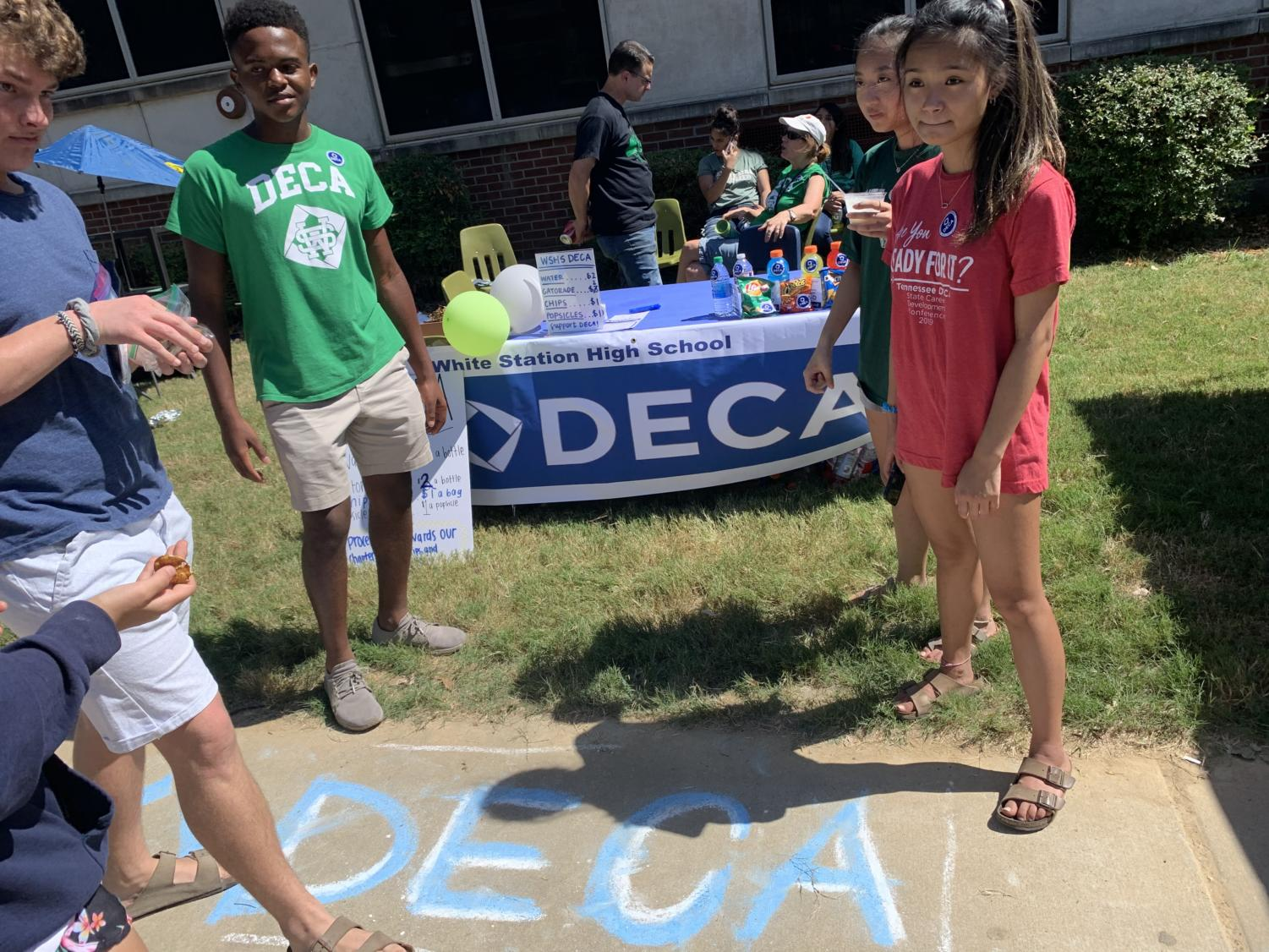 DECA represented themselves at the Fall Festival this year. They sold merchandise and refreshments to help fund their may competitions and trips throughout the year, as well as to just generally promote themselves.