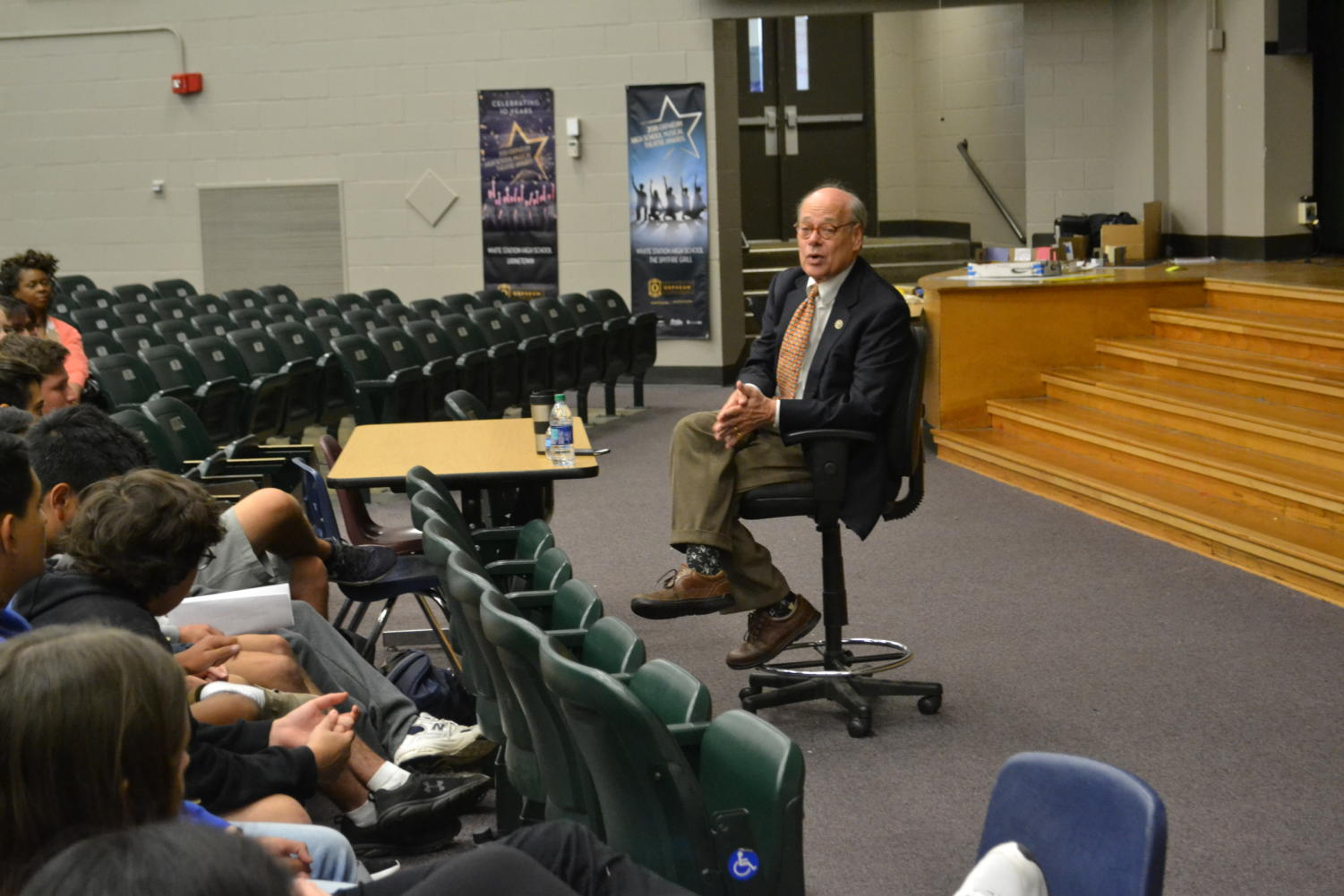 Democratic Congressman Steve Cohen attends a Question and Answer with White Station AP Government seniors. He talked about a wide range of topics, such as, impeachment, Medicare, free college, and Donald Trump's presidency.