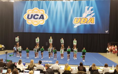 WSHS varsity cheer team represents their school at regionals