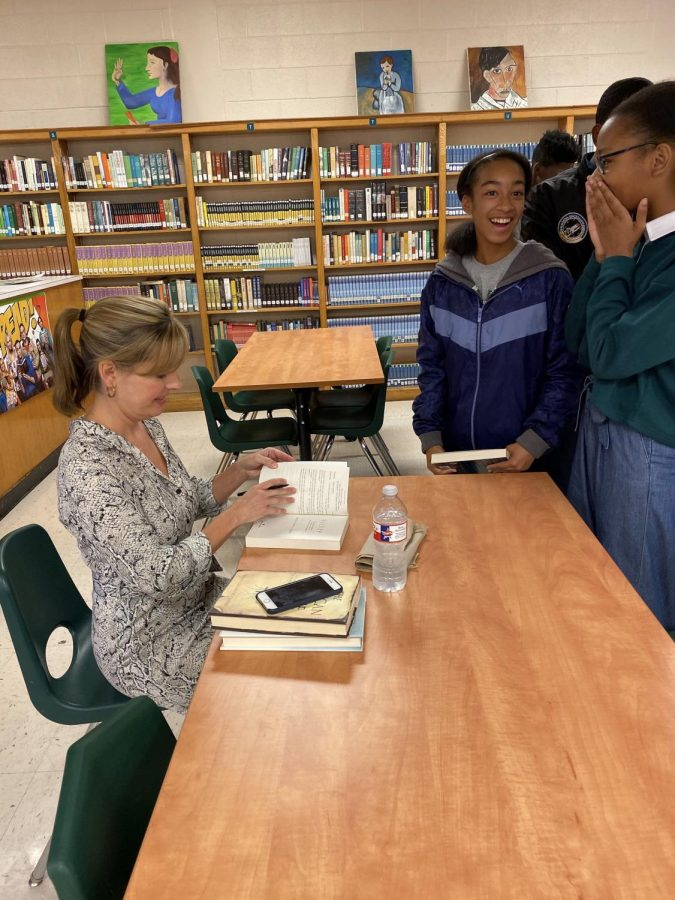 Molly Crosby speaks to CLUE English students