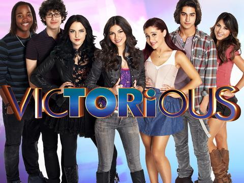Created in 2010, the main cast members from left to right include: Andre Harris (Leon Thomas III), Robbie Shapiro (Matt Bennett), Jade West (Elizabeth Gillies), Tori Vega (Victoria Justice), Cat Valentine (Ariana Grande), Beck Oliver (Avan Jogia) and Trina Vega (Daniella Monet).