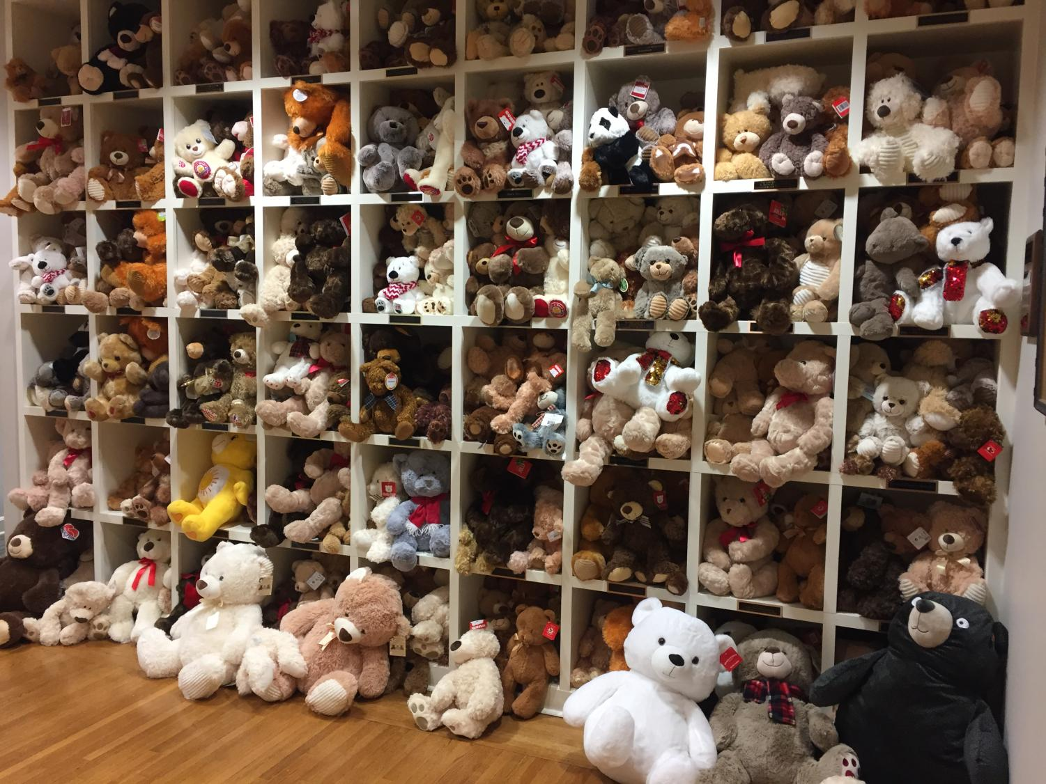 """The donated bears make their way to the child advocacy center and onto the teddy bear wall. When a child comes to the center, their welcoming gift is a teddy bear to keep them company on their journey. """"It's one of the first things that kids see when they  first come in the CAC…it's a big first impression for kids,"""" Su Hartline said."""