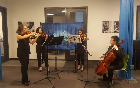 A White Station quartet played a selection of pieces at a Memphis Music Initiative (MMI) fundraiser on Jan. 15. The students joined a number of other ensembles and individuals in showcasing the program and the hard work White Station's own MMI fellow Marisa Polesky puts forth each week.