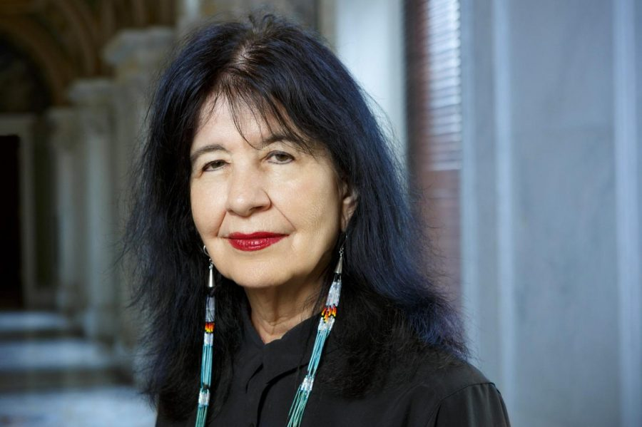 Joy Harjo is the current Poet Laureate for the United States and a member of the Muscogee (Creek) Nation. She started her position in the fall of 2019.