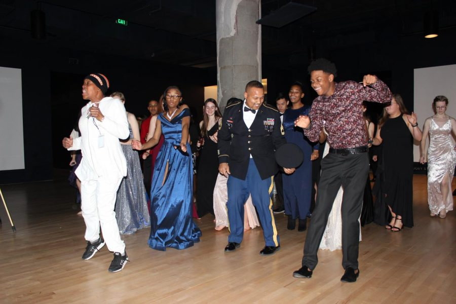 After the proper formalities, Spartans are found busting out moves on the dance floor. The night of February 15 marked the annual Military Ball held by the WSHS JROTC at Crosstown Concourse.