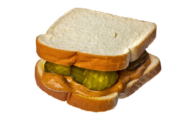 A pickle and peanut butter sandwich, despite looking unappetizing, is eaten judged, and approved by me. It's appearance, moist pickles, creamy peanut butter and all, surprises many; but ,one should judge this meal by its flavor rather than its looks.
