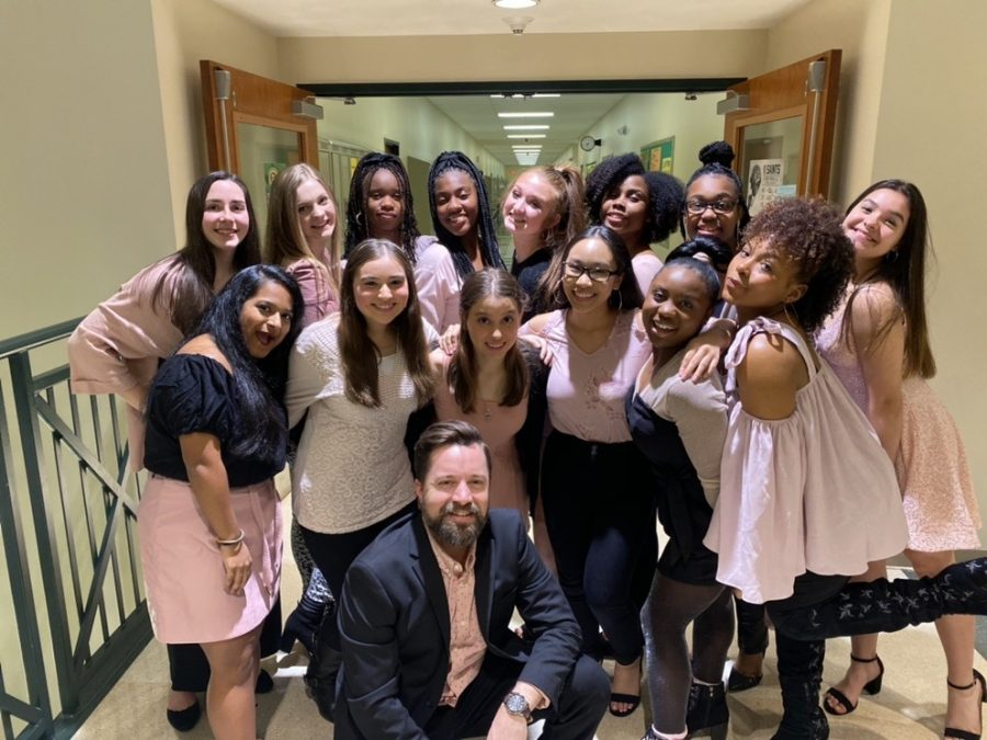 Do re he and Key of she are both a cappella choir groups at White Station. They meet everyday during seventh period to practice blending their voices into beautiful harmonies.