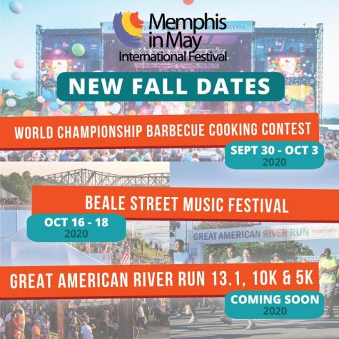 In light of the ongoing Coronavirus outbreak, Memphis in May pushed many of their events back to the fall of 2020.  This announcement was communicated in many ways, including the poster above.