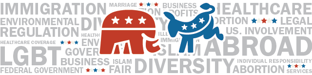 The two major political parties are either Democrat or Republican. The political breakdown is important to knowing where you stand and what you will vote for in the next election.