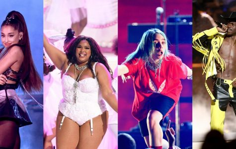 """(Left to right) Ariana Grande, Lizzo, Billie Eilish, and Lil Nas X, and countless other celebrities meet for """"the biggest night in music,"""" the Grammys. Billie Eilish, Lizzo, and The Chemical Brothers were among some of the top award winners of the night."""