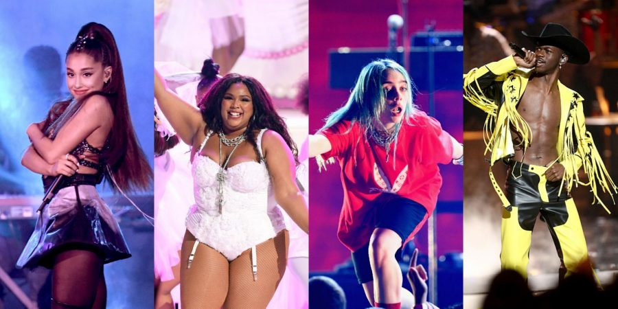 "(Left to right) Ariana Grande, Lizzo, Billie Eilish, and Lil Nas X, and countless other celebrities meet for ""the biggest night in music,"" the Grammys. Billie Eilish, Lizzo, and The Chemical Brothers were among some of the top award winners of the night."
