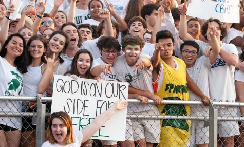 White Station seniors pose and celebrate during a football game this fall. Due to the ongoing Coronavirus pandemic, seniors across the country will have to face an unusual end to their final year of high school.