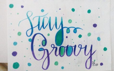 [Above] One of the calligraphy pieces Mia Perez (10) has produced during quarantine. The abundance of free-time and being stuck inside the house has allowed students to expand their interests during quarantine.