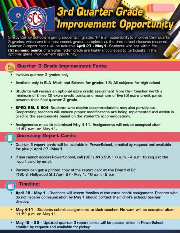 With strict guidelines set in place for this extra credit opportunity, students who complete their assignments will see their report cards changed for the better. A list of all grade improvement assignments can be found here. Students who lack adequate access to technology may also request a paper copy of these assignments.