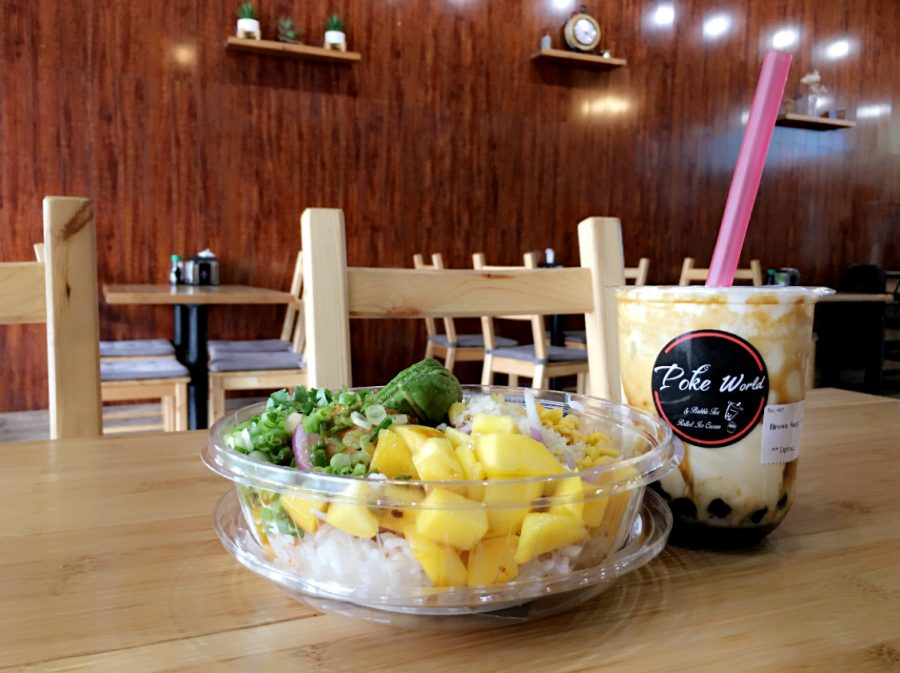 Poke+World+specializes+in+bubble+tea%2C+rolled+ice+cream+and+Poke+Bowls%2C+a+concoction+of+seafood%2C+veggies+and+sauces.+The+shop+is+one+of+many+in+Memphis+that+serve+top-notch+bubble+tea.+