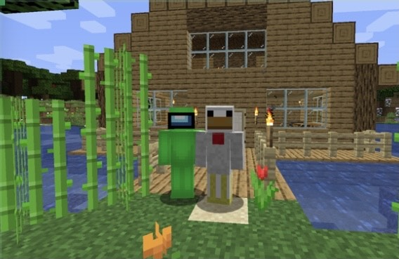 A new wave of streaming, specifically on Twitch, has prompted Arianna Townley (11) and ET Thompson (11) to try it on their own. Townley (11) and ET Thompson (11), pictured in front of their newly built house, have just streamed Minecraft on Twitch.