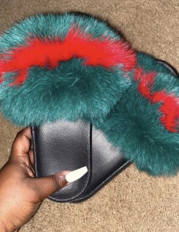 "Here is a picture of the ""Gucci Fur Slide"" from Natela Bonaparte's website: furryfairytale.bigcartel.com. Bonaparte posted her other fur slide colors on her Instagram @furryfairytale1."