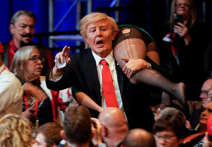 Dressed as Donald Trump, Cohen crashed the 2020 Conservative Political Action Conference. The prank was covered by several news outlets at the time, but they were unaware that it was a part of the filming for a Borat sequel.