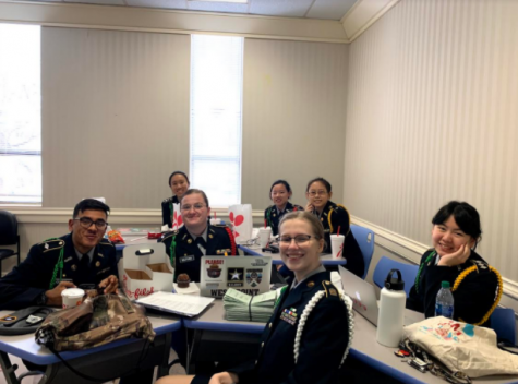 Cadets prepare for last year's Boards during in-person school. The Spring 2020-2021 Cadet of the Quarter Boards are conducted virtually due to COVID-19.