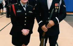 Annie Wilford (11) (left) serves as the deputy commanding officer of the Spartan Battalion. Through JROTC and other clubs, Wilford has discovered an interest in politics and law which she hopes to work in after serving.