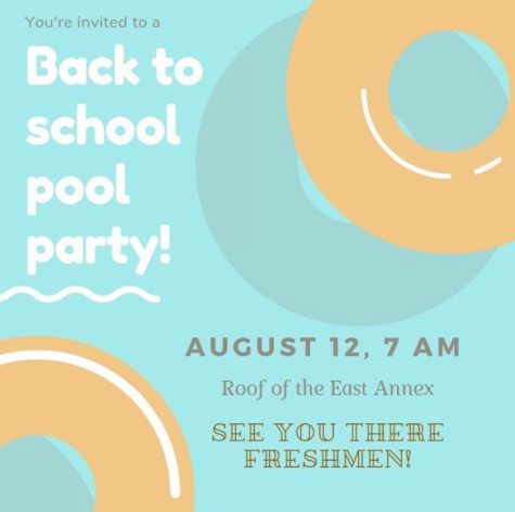 """Jokes such as a fake freshmen pool party at the nonexistent East Annex pool have become a trademark of """"Spartamemes."""" This flyer fooled many underclassmen, and many students joined in on the prank."""